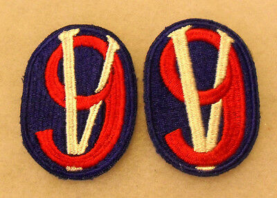 Wwii 95Th Infantry Division Variant Thin Numbers No Outline To Numbers Cotton Ce