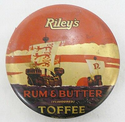 Vintage Riley's Rum & Butter Toffee Candy Tin