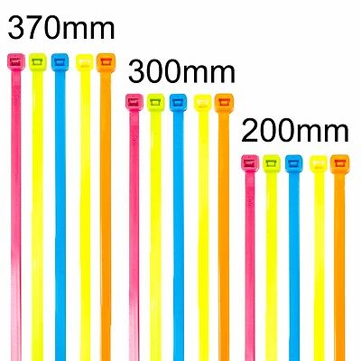 SHORT-LONG NYLON COLOUR CABLE ZIP TIES Large/Long/Wide/Thick Electrical Wraps