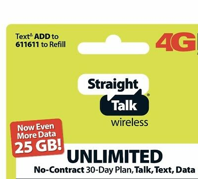 Two Straight Talk Text 5GB Paper Prepaid Total 60 Days Smart Phone