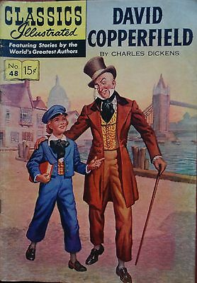 Classics Illustrated #48 David Copperfield Great Charles Dicken Novel