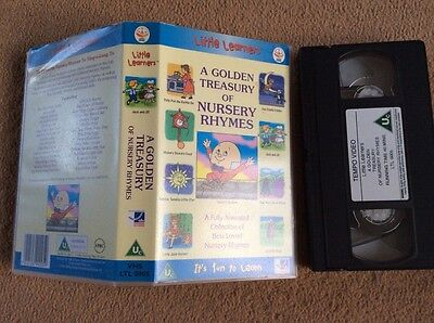 A Golden Treasury Of Nursery Rhymes - Vhs Video - Kids Childrens