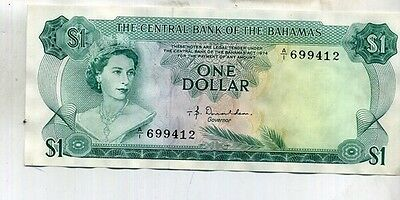 Bahamas 1974 $1 Currency Note  Au 1785C