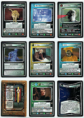 Star Trek CCG The FAJO Sammlung, komplettes Set of 18 Karten
