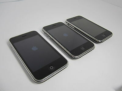 Lot of 3 Apple Iphone 3 - For Parts or repair