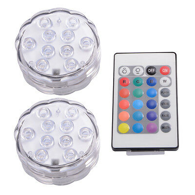 MultiColor Remote Control Submersible Underwater LED Lights for Aquarium LD842