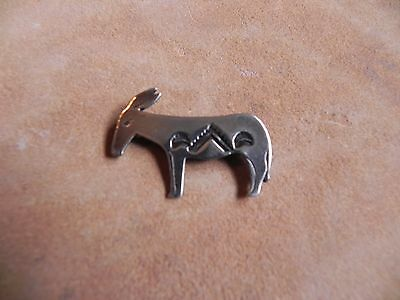 Stamped Sterling Silver DONKEY MULE Pin Brooch