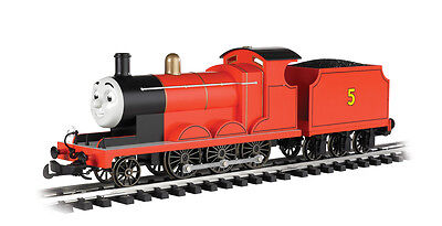 Bachmann G Scale Train Thomas & Friends James The Red Engine w/Moving Eyes New