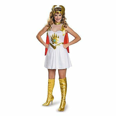 SHE-RA MASTER OF THE UNIVERSE WOMENS COSTUME Halloween Cosplay Fancy Dress W5