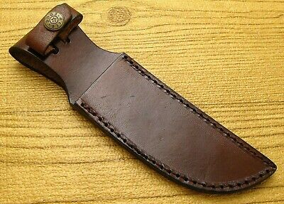 "Leather Knife Belt Sheath for up to 5"" blade Fixed Blade Knives Rite Edge"