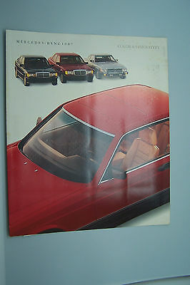 1987 Mercedes 560 sl 560 sec Owners sales brochure Color Chart w107 w126 w124