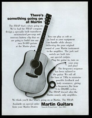 1975 Martin FRAP D-18D guitar photo vintage print ad