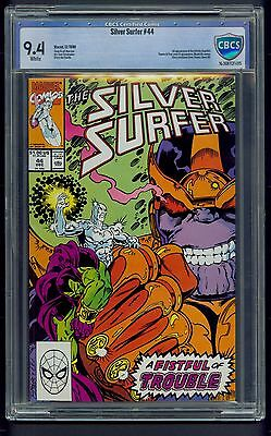 Silver Surfer #44 (1990) CBCS Graded 9.4 ~ Infinity Gauntlet ~ Thanos  ~ Not CGC