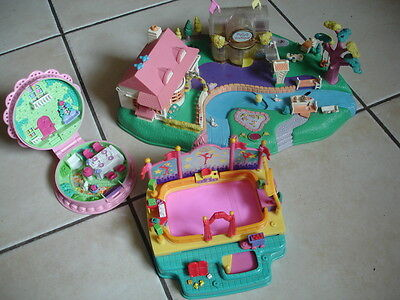 Lot 3 Polly Pocket  - Polly Boutique Patinoire