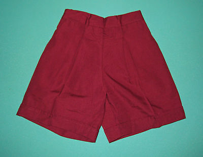 New Girls School Uniform Short Maroon Size 5 to16