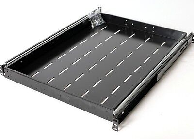 "1U Sliding Shelf for 600mm Deep Rack Server Cabinet 19"" Wide Screw Slide 1RU"