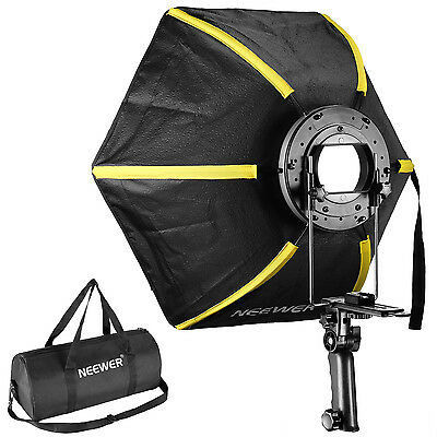 "Neewer 24""/60cm Hexagonal Softbox with Hand Grip(Black/Yellow)"
