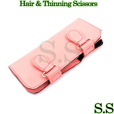 2 Piece Hairdressing Set - Scissors Thinning Shears In Snap Case PINK