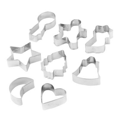 Kitchen Stainless Steel Cake Biscuit Cookie Cutter Mold Baking Tool Set 8 in 1