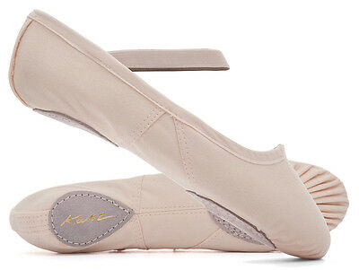 Ladies Girls Pink Canvas Split Sole Ballet Shoes All Sizes By Katz Dancewear ECO
