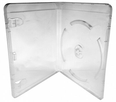 200 PREMIUM Clear Blu-Ray Single DVD Cases 14MM