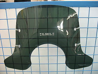 Genuine Lml Star 125 2T 4T / Vespa Px Fly Sceen Tinted Windshield & Fittings New