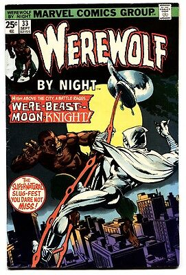 Werewolf by Night #33 comic book 1975- 2nd MOON KNIGHT- Marvel- Hot Book