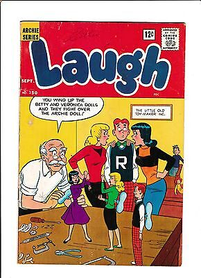 Laugh #150  [1963 Gd+]  Wind-Up Dolls Cover!