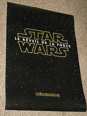 "Star Wars The Force Awakens ""FRENCH VER A"" 27x40 Original D/S Movie Poster"