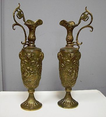 Antique Bronze Ewers Pitcher Jug Amphora With Lovely Design Excellent Quality