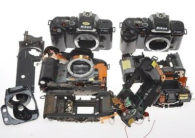 Nikon F-401s and F-401x 3 cameras disassembled and not complete solad as is