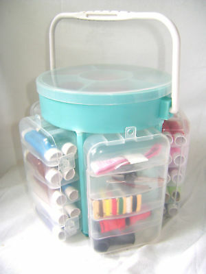 New 210 Piece Deluxe Sewing Kit With Storage Caddy Pins Cushion Scissors Thread