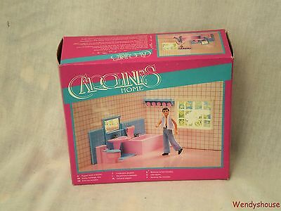 Vintage Carolines Home Dolls House Boxed Bathroom Furniture - Free P & P
