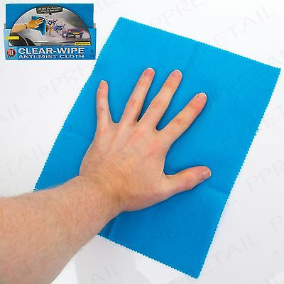 LARGE ANTI-MIST WINDSCREEN CLOTH Car/Van/Truck Fog/Steam Window Glass Wipe Clean