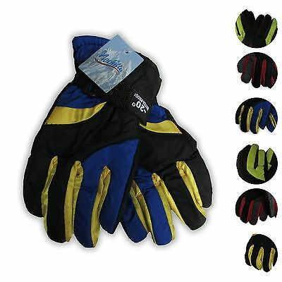 Water Proof 20 Below Youth Winter Ski Gloves (-20)  7 Colors  Size S or M