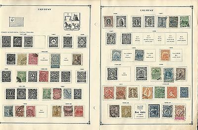 Uruguay 1877-1940 Collection on Scott International Pages, 6 Pages