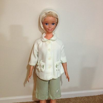My Size Barbie 3-Piece Mint Green And White Outfit