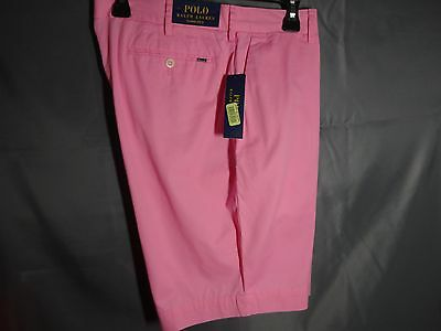 Polo Ralph Lauren Mens Casual Shorts Classic Fit Harbor Pink Cotton NWT