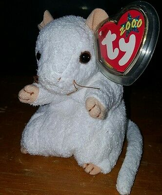 Cheezer The White Mouse Ty Beanie Baby - 2000