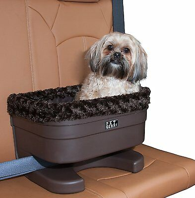 Pet Gear Dog Pet Elevated Raised Booster Car Seat Carrier Chocolate Small