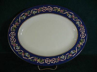 """Spode Ribbons and Roses Y8553 Oval 15"""" Serving Platter"""