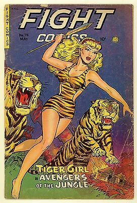 Fight Comics #74 (1951) Vg- (3.5) ~ Fiction House ~ Tiger Girl ~ Jungle