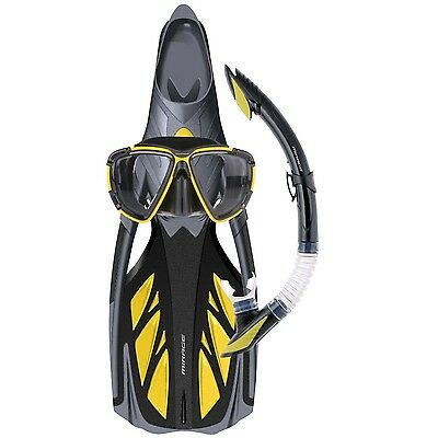 Mirage Platinum Silicone Snorkel Mask Fin Package YELLOW Size 2XL LAST ONE