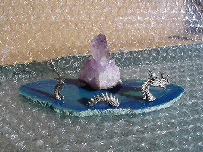 Water Dragon With Amethyst Point L56