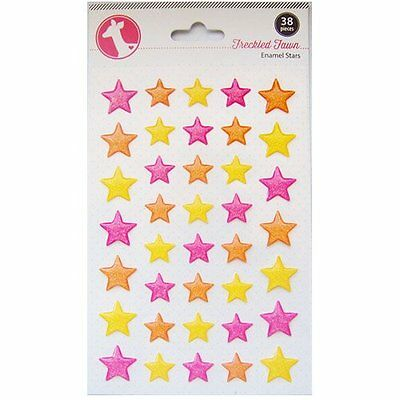 Freckled Fawn 386559976 Freckled Fawn Neon Glitter Enamel Star Stickers