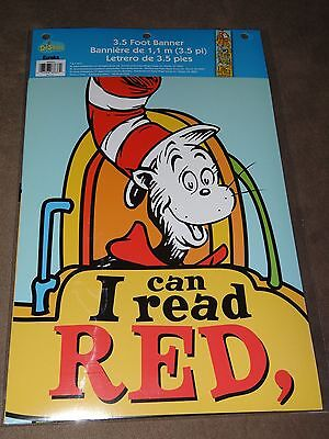 Dr. Seuss Cat In The Hat I Can Read... 3.5-Foot Banner-Free Shipping-New In Pkg.