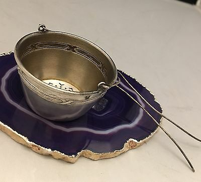 BEAUTIFUL Antique c1900 French Sterling Silver Tea Strainer Sieve Infuser - L531