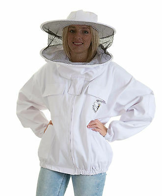[FR] Buzz Beekeeping Bee Jacket with Round Veil - 5XL