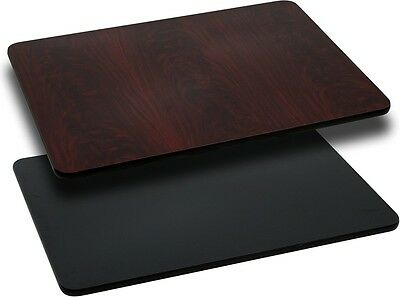 "NEW 24""x30"" RECTANGULAR TABLE TOP MAHOGANY LAMINATE RESIDENTIAL FURNITURE TABLES"