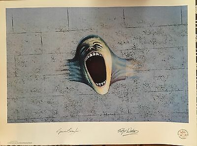 """Pink Floyd Limited Edition Scream Lithograph """"The Wall""""Poster"""